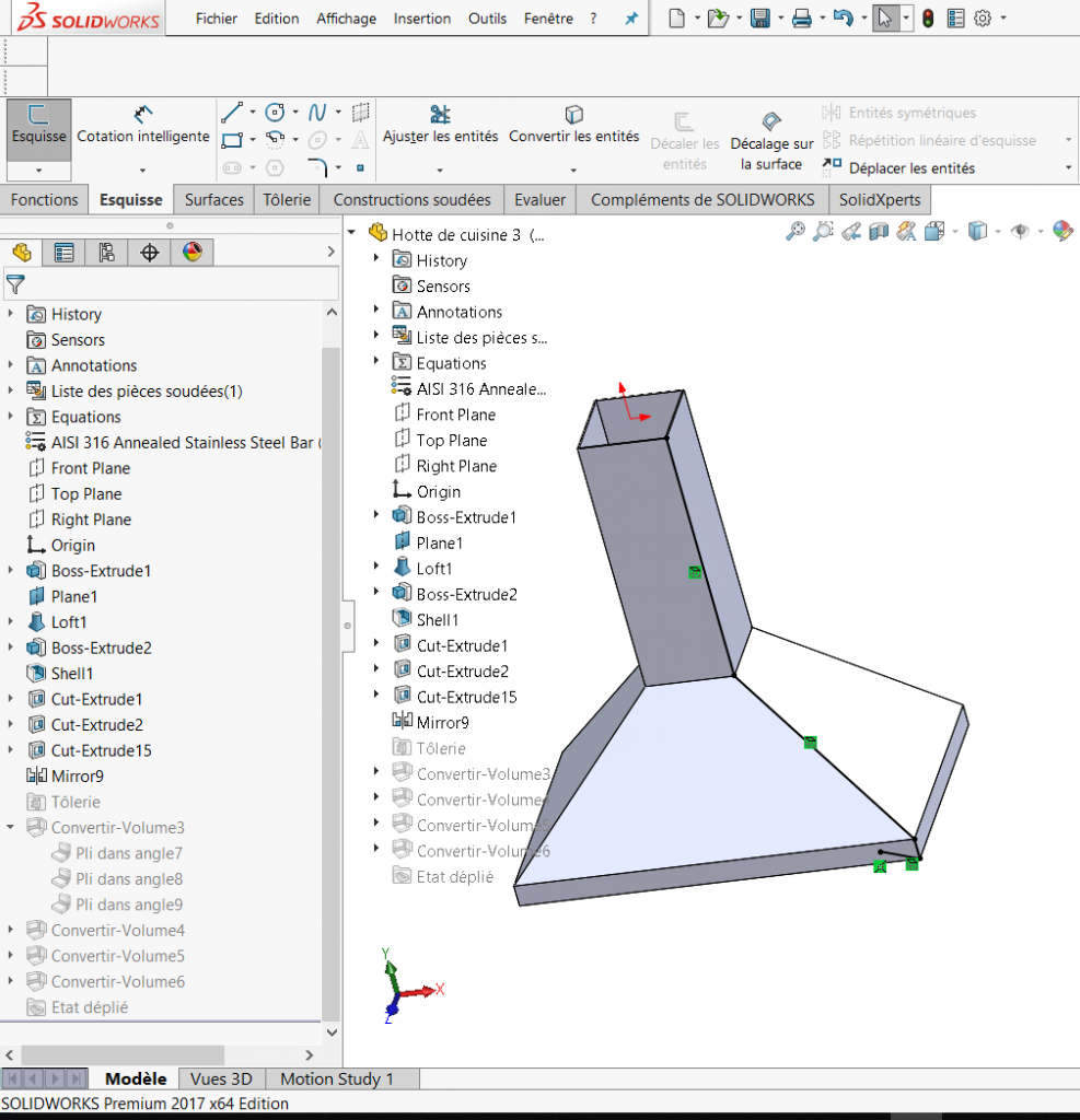 How to create a multi-body sheet metal part from a solid