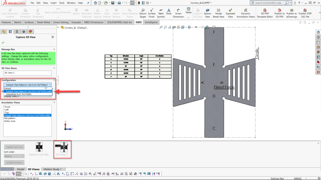 How to Insert Sheet Metal Bend Notes within SOLIDWORKS MBD