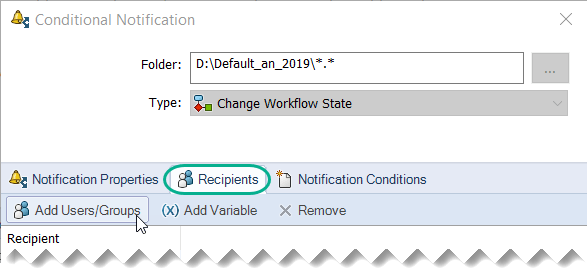 PDM: Using conditional transition notifications in a