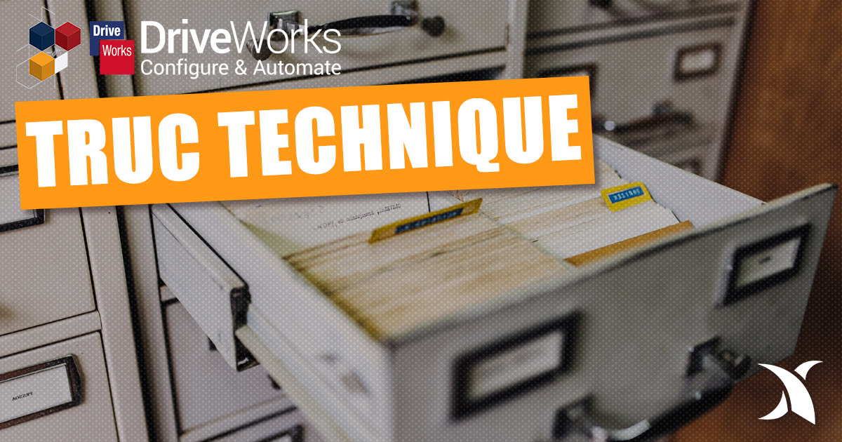 Meilleures pratiques pour les structures de projet DriveWorks
